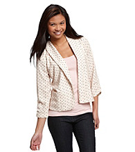 Eyeshadow® Juniors' Tulip Print Blazer