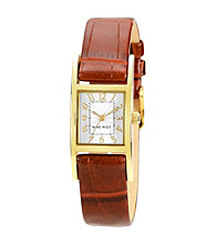 Nine West® Polished Goldtone Strap Watch