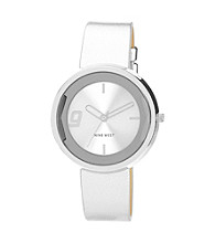 Nine West® Polished Silvertone Strap Watch