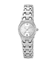 Anne Klein® Women's Crystal Silvertone Bracelet Watch