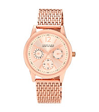 Anne Klein® Women's Rose Goldtone Multi-Function Bracelet Watch