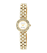 Anne Klein®Women's Crystal Goldtone Bracelet Watch