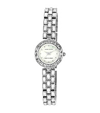 Anne Klein® Women's Silvertone Bracelet Watch