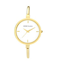 Anne Klein® Women's Goldtone Slim Bangle Watch