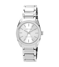Anne Klein® Women's Silvertone Dress Bracelet Watch