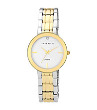 Anne Klein® Women's Two Tone Diamond Dial Bracelet Watch