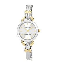 Anne Klein® Women's Crystal Two Tone Bracelet Watch