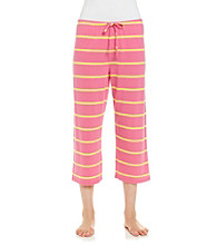 Jockey® Bright Pink Knit Capris - Textured Stripe
