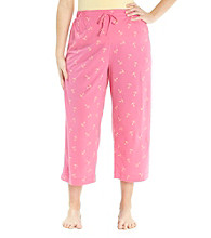 Jockey® Bright Pink Plus Size Knit Capris - Anchor Toss