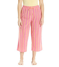 Jockey® Bright Pink Plus Size Knit Capris - Rope Stripe