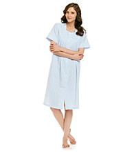 Miss Elaine® Seersucker Short Snap Robe