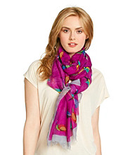 Basha Purple Colorful Bird Neckwrap