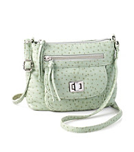 GAL Washed Ostrich Crossbody