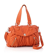 GAL Washed Ostrich Soft Satchel