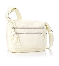 GAL Washed Ostrich Soft Shoulder Bag