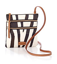 Dooney & Bourke® Zebra North/South Triple Zip Crossbody
