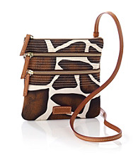 Dooney & Bourke® Giraffe North/South Triple Zip Crossbody