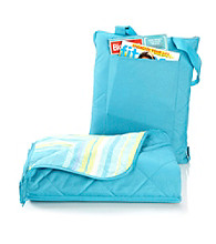 LivingQuarters All Weather Teal Throw