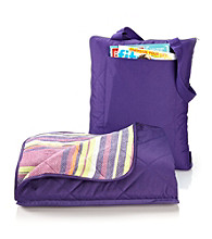 LivingQuarters All Weather Purple Throw