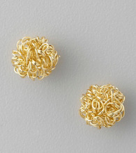 Studio Works® Knotted Button Earrings
