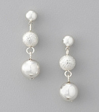Studio Works® Three Bead Drop Earrings