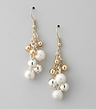 Studio Works® Two Tone Cluster Drop Earrings