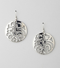 Erica Lyons® Silver Pierced Earrings