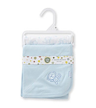 Little Me® Baby Boys' Blue 2-pk. Monkey Receiving Blankets