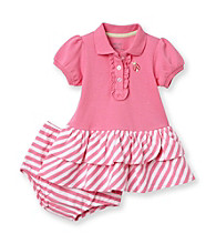 Little Me® Baby Girls' Pink Short Sleeve Ladybug Polo Dress