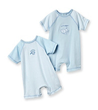 Little Me® Baby Boys' Blue 2-pk. Monkey Rompers