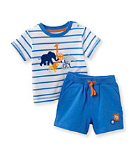 Little Me® Baby Boys' Blue Safari Shorts Set