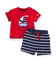 Little Me® Baby Boys' Red Sailboat Shorts Set