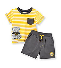 Little Me® Baby Boys' Yellow Bear Shorts Set