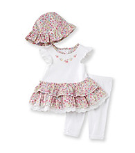 Little Me® Baby Girls' White Blossom Dress and Leggings Set
