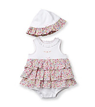 Little Me® Baby Girls' White Blossom Popover and Hat