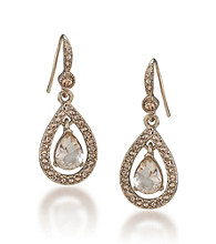 Carolee® Topaz Crystal Teardrop Earrings