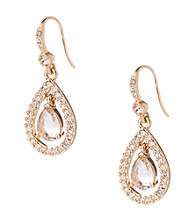 Carolee® Crystal Teardrop Earrings