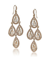 Carolee® Topaz Chandelier Earrings