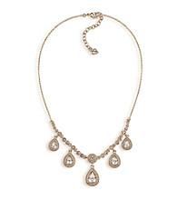 Carolee® Topaz Crystal Teardrop Necklace