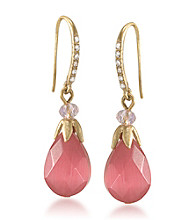 Carolee® Multi Colored Bright Side Faceted Drop Earrings