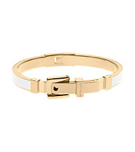 Michael Kors® Ecru/Goldtone Enamel Buckle Bangle