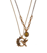 Lucky Brand® Two Tone Charm Necklace