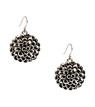 Lucky Brand® Silvertone Floral Earrings