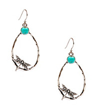 Lucky Brand® Silvertone Oblong Hoop Earrings