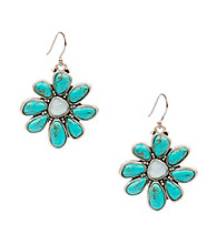 Lucky Brand® Turquoise Floral Earrings