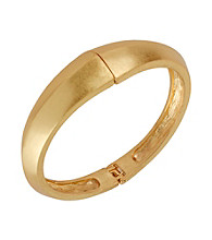 Kenneth Cole® Goldtone Sculptural Hinged Bangle Bracelet