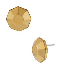 Kenneth Cole® Goldtone Geometric Faceted Stud Earrings