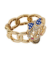 Betsey Johnson® Goldtone Skull Stretch Bracelet