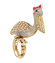 Betsey Johnson® Goldtone Pelican Stretch Ring