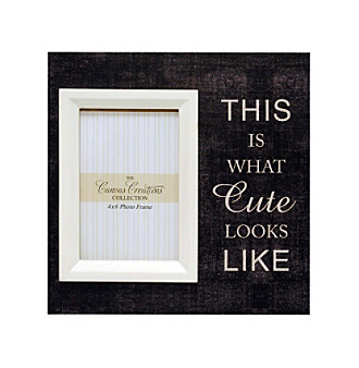 "New View ""This Is What Cute Looks Like"" Canvas Frame"
